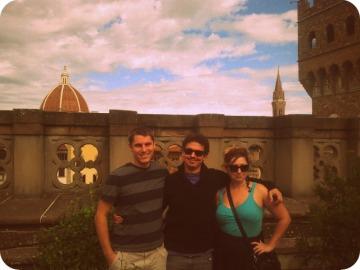 Mike, Vid, & Ashley above Florence Fall 2013 Field Season