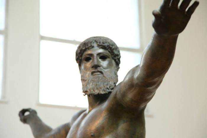 Close up on The Artemision Bronze of Zeus/Poseidon
