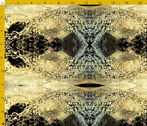 Fabric swatch created with the point cloud data of a Byzantine cityscape under excavation.